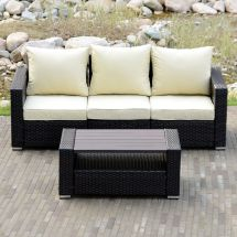 Sectional Outdoor Patio Wicker Rattan Sofa Sets Pe Deck