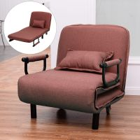 "Sofa Bed Folding Arm Chair 29.5"" Width Convertible Sleeper ..."