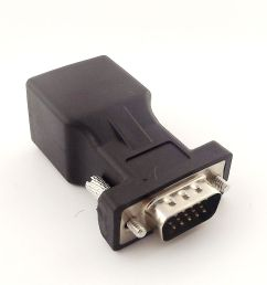 details about db15 vga male to rj45 female extender connector cat5 5e 6 network cable adapter [ 1000 x 1000 Pixel ]