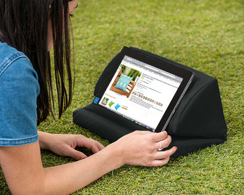 Black Outdoor iPad Kindle Tablet Book Stand Pillow Lap