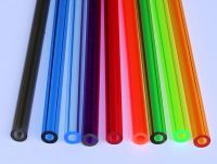 """9 COLORS 1/2"""" OD x 1/4"""" ID CLEAR ACRYLIC TUBE RED BLUE ..."""