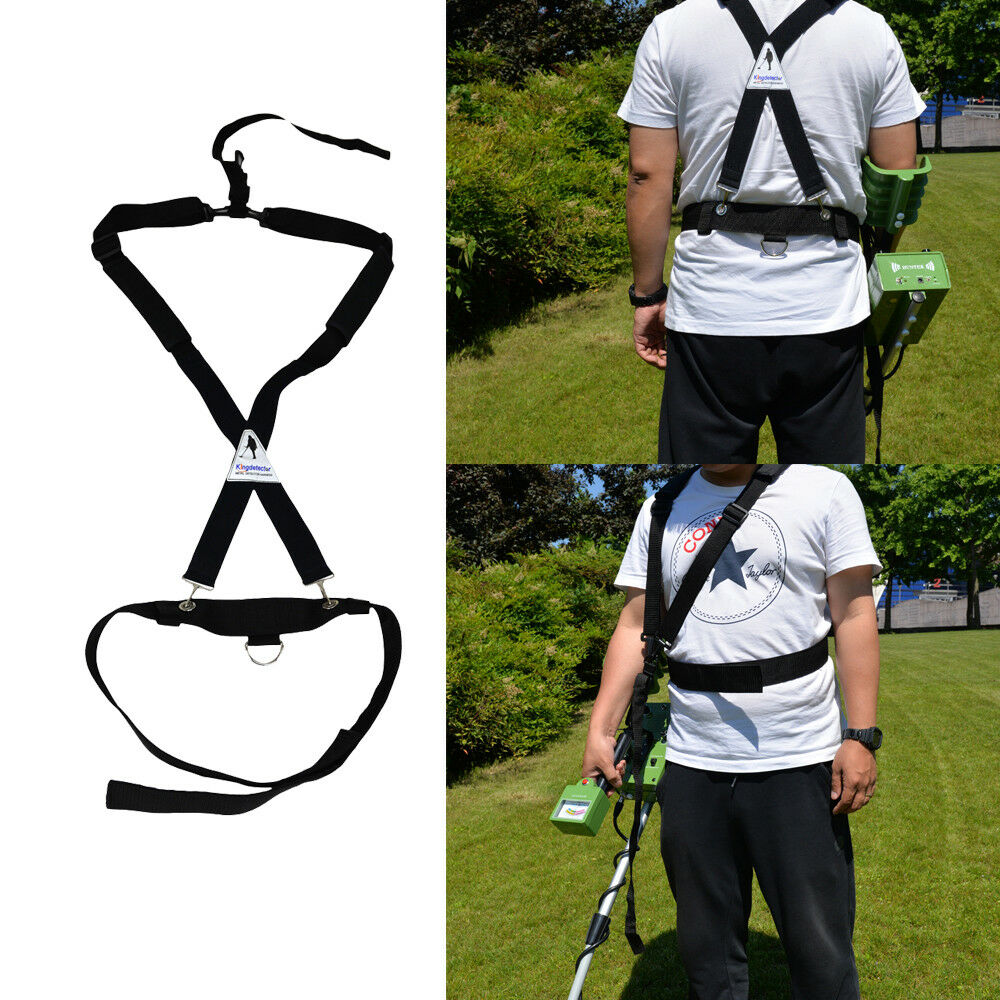 hight resolution of universal metal detector bungee support harness ez easy swing fully adjustable