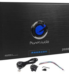 details about new planet audio anarchy ac2000 2 2000 watt 2 channel car amplifier amp remote [ 1000 x 882 Pixel ]