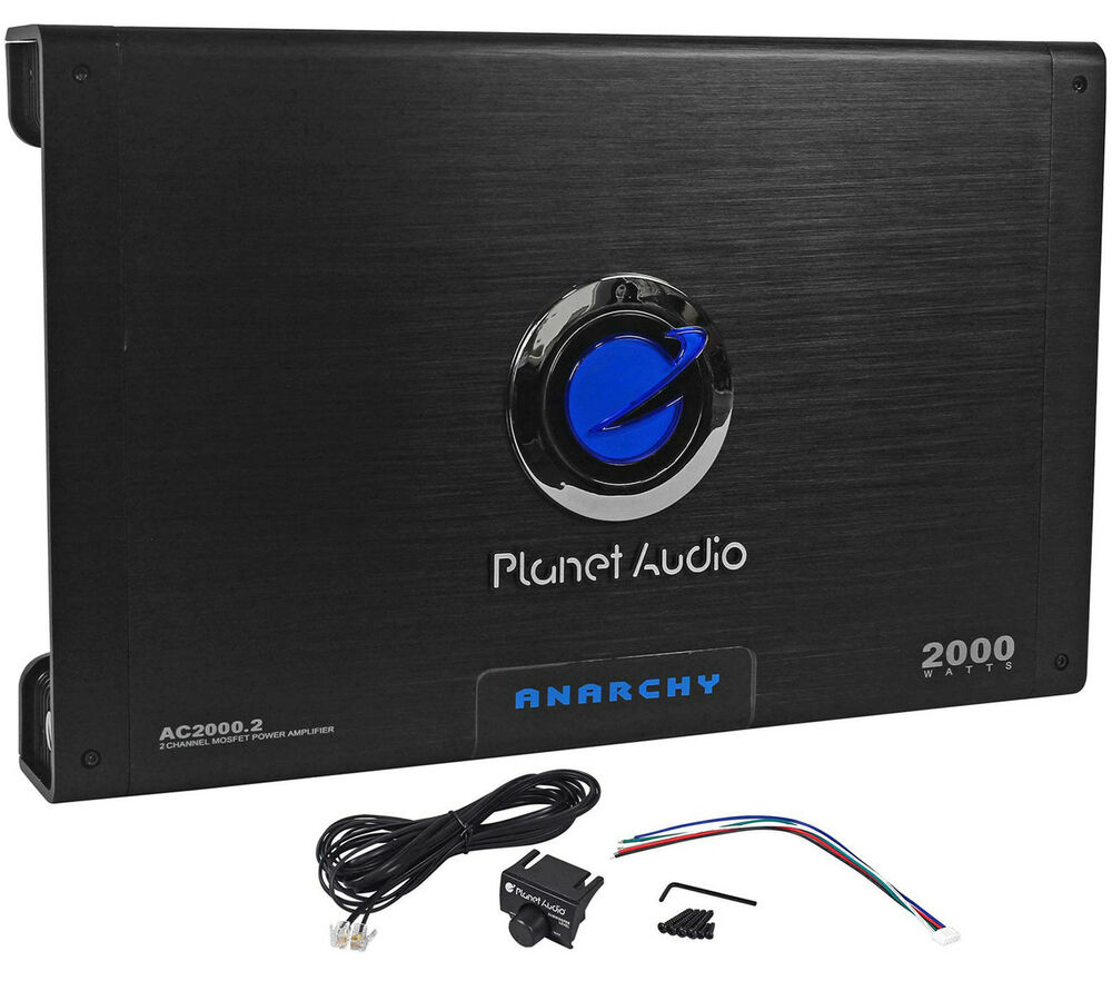 hight resolution of details about new planet audio anarchy ac2000 2 2000 watt 2 channel car amplifier amp remote