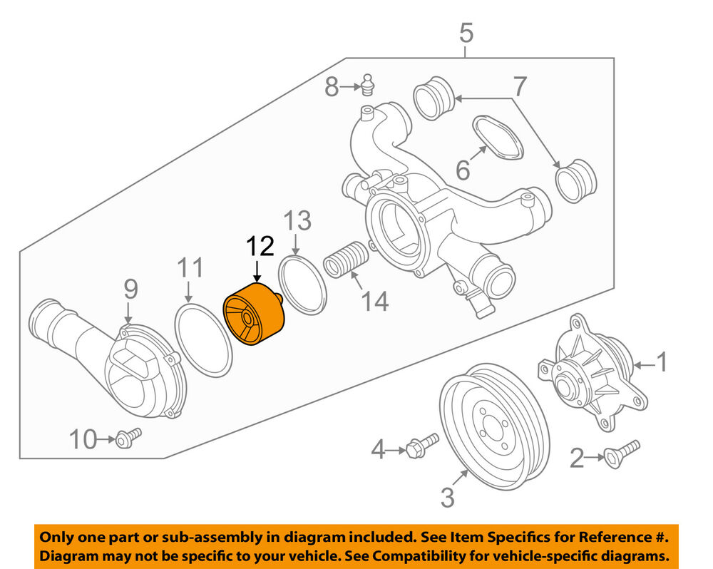 hight resolution of details about audi oem 12 16 a8 quattro 6 3l w12 engine coolant thermostat 07p198210a