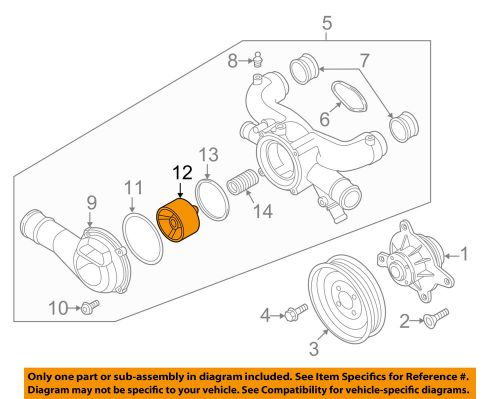 small resolution of details about audi oem 12 16 a8 quattro 6 3l w12 engine coolant thermostat 07p198210a