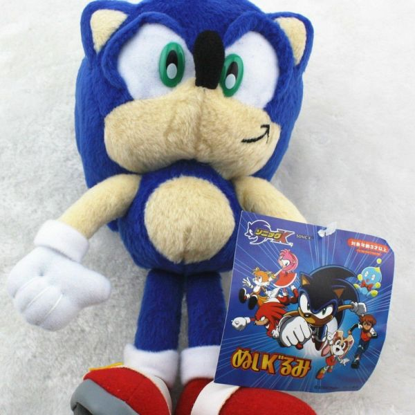 Sonic Hedgehog Blue Plush Soft Stuffed Toy