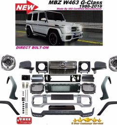 2002 2016 w463 g63 style front bumper grill flares full conversion g55 g500 g550 12201983 ebay [ 1000 x 915 Pixel ]