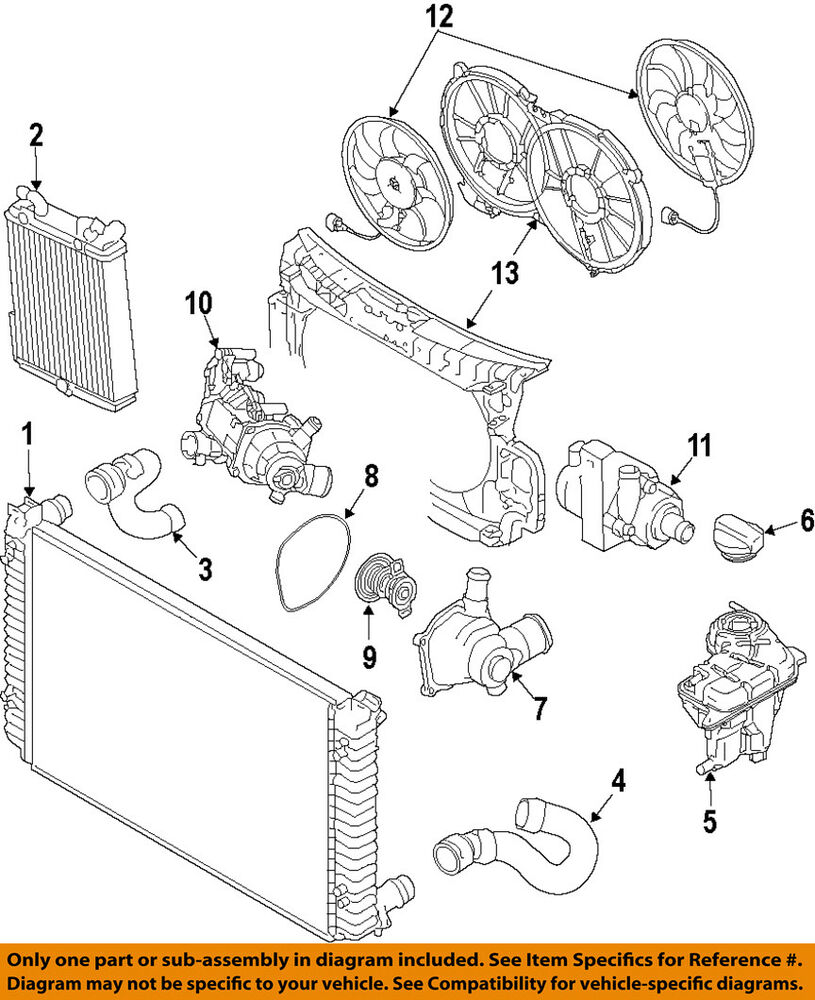 medium resolution of audi oem 14 17 rs7 engine water pump 6r0965561a ebay audi rs7 engine diagrams