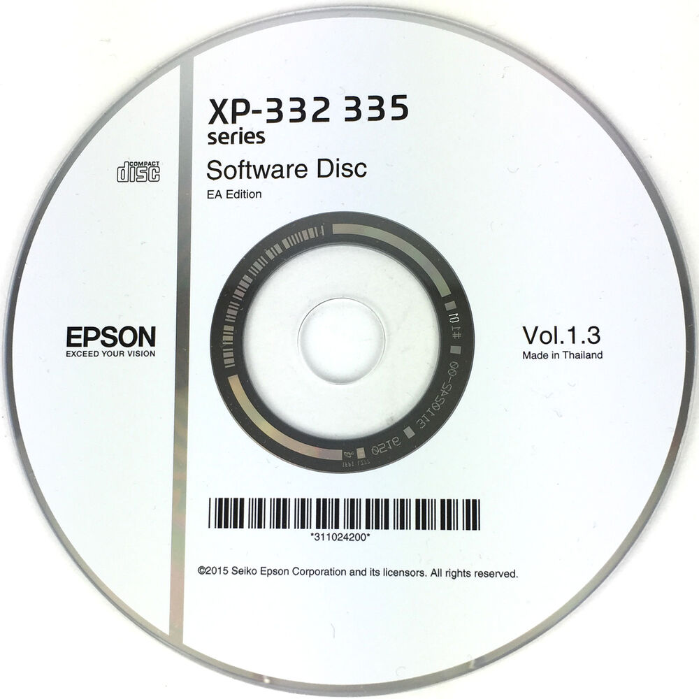 Epson Printer Driver Disc CD Expression Home XP-332 XP-335