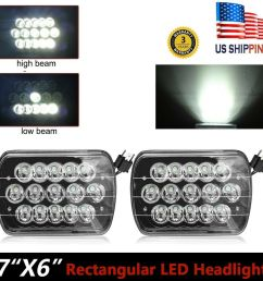 2x 7x6 5d dot led headlight for ford super duty truck f550 f600 f650 f700 f750 [ 1000 x 1000 Pixel ]