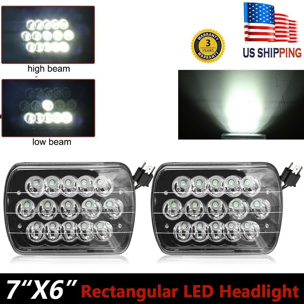 hight resolution of 2x 7x6 5d dot led headlight for ford super duty truck f550 f600 f650 f700 f750