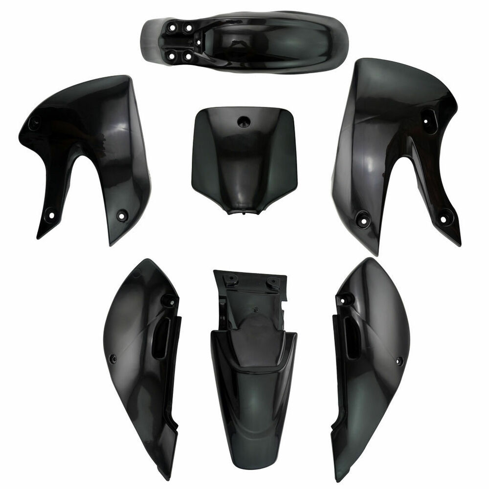 hight resolution of details about kawasaki klx 110 black plastics kit pit bike 125 140 150 160 200 cc for dhz