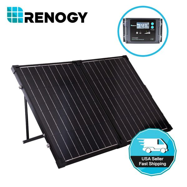 Renogy 100w 12v Foldable Mono Solar Panel Suitcase Kit With 20a Controller Camping 816360026709