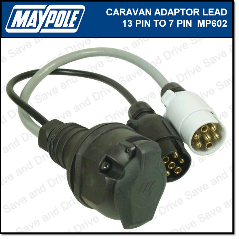 wiring diagram for caravan 13 pin plug sony xplod car stereo maypole 7 to towing adaptor lead 12n 12s details about electrics mp602