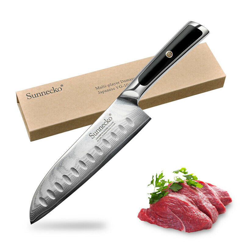 rating kitchen knives country decor themes elite 7 inch santoku chef knife japanese vg10 steel slicer details about by sunnecko
