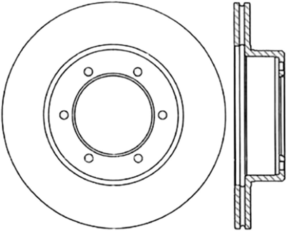 Disc Brake Rotor-Sport Drilled Disc Front Right fits 86-95