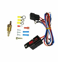 details about radiator engine electric fan thermostat temperature switch relay wiring kit [ 1000 x 1000 Pixel ]
