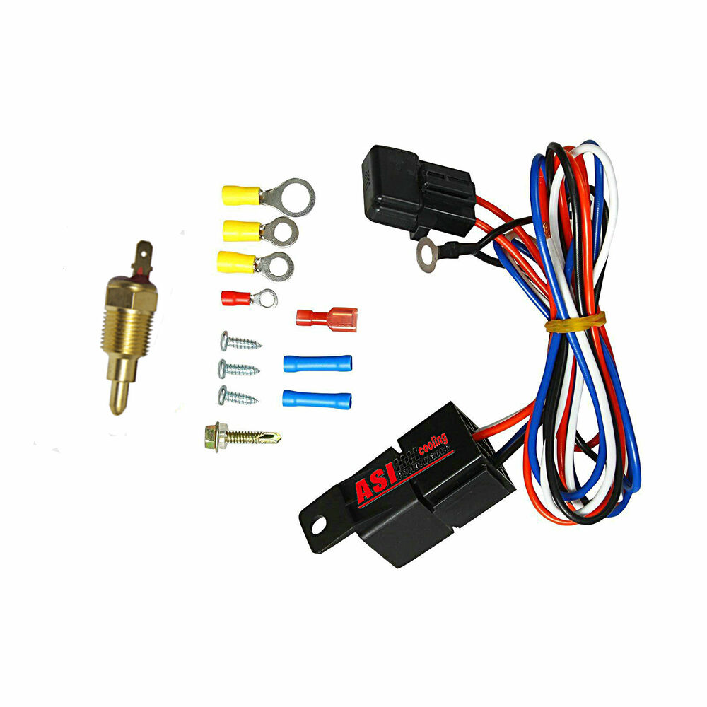 hight resolution of details about radiator engine electric fan thermostat temperature switch relay wiring kit