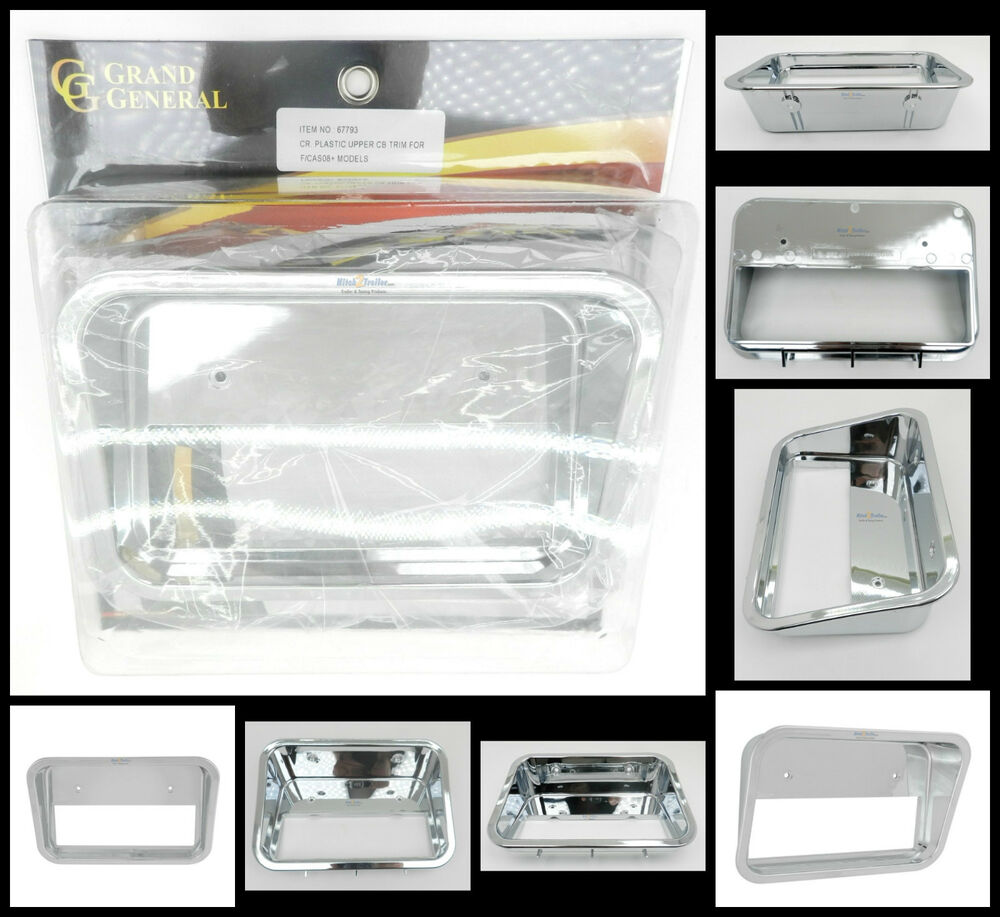 hight resolution of details about cb trim upper drivers side chrome plastic freightliner cascadia 2008 up 67793