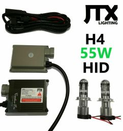 details about hi lo 55w h4 hid kit suits toyota hilux sr5 dual cab single king surf forerunner [ 916 x 1000 Pixel ]