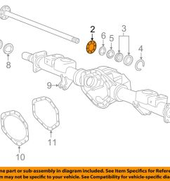 details about gm oem axle housing rear axle shaft gasket 20920620 [ 1000 x 798 Pixel ]