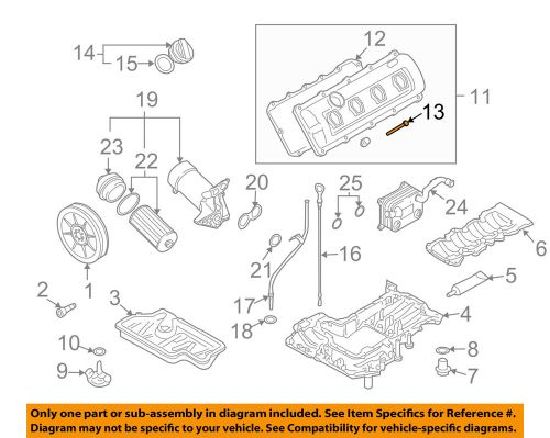 small resolution of details about audi oem 04 09 s4 engine parts valve cover bolt 03g128773a