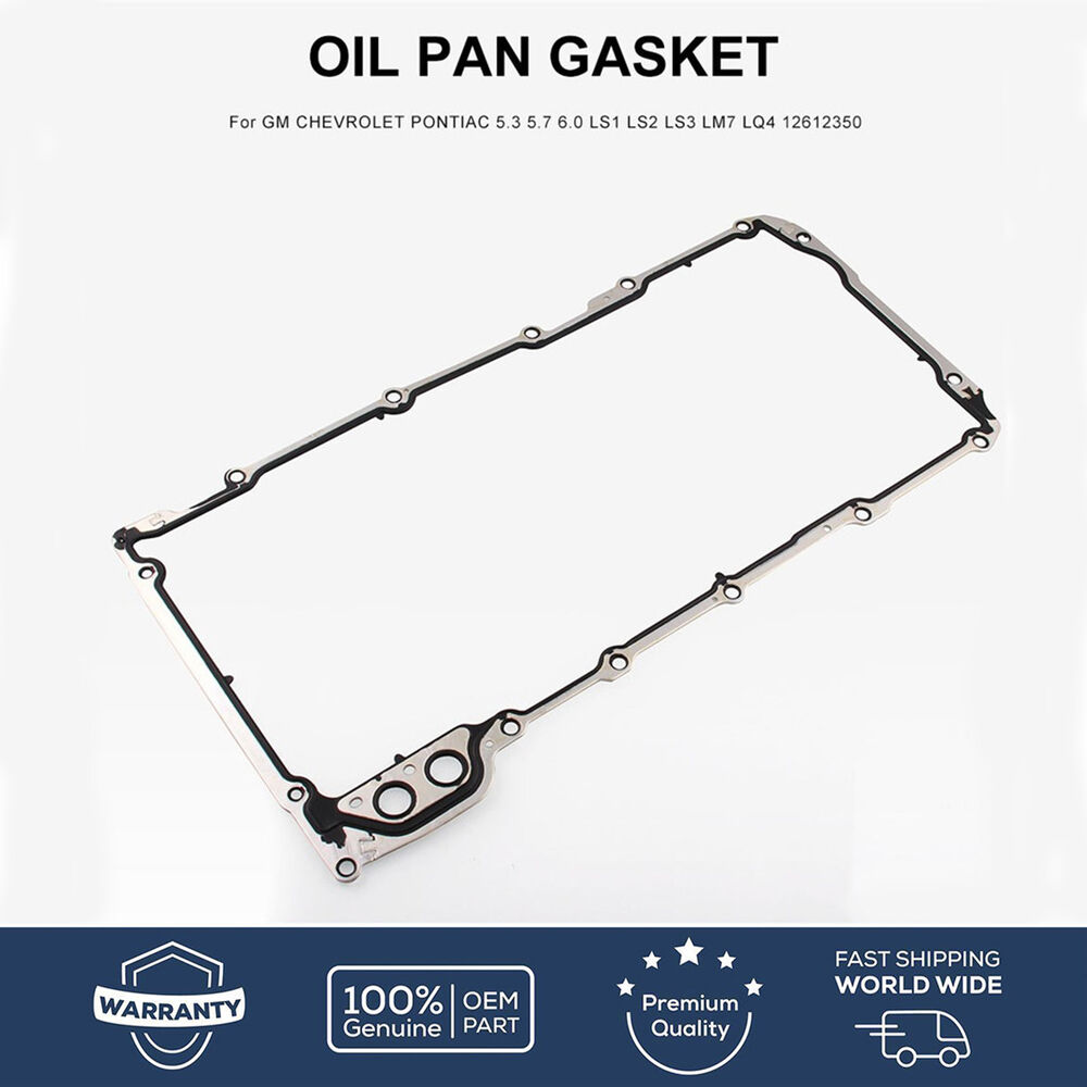 hight resolution of details about oil pan gasket for gm chevrolet pontiac 5 3 5 7 6 0 ls1 ls2 ls3 lm7 lq4 12612350