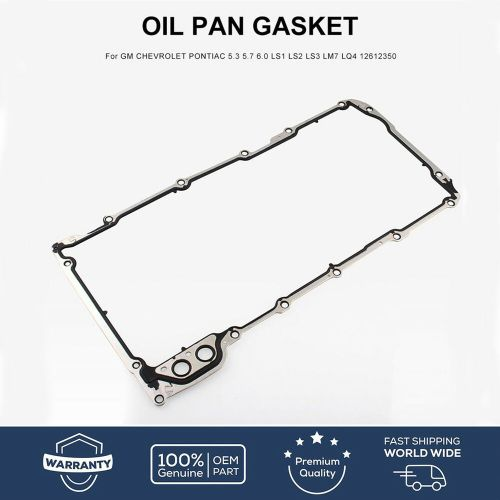 small resolution of details about oil pan gasket for gm chevrolet pontiac 5 3 5 7 6 0 ls1 ls2 ls3 lm7 lq4 12612350