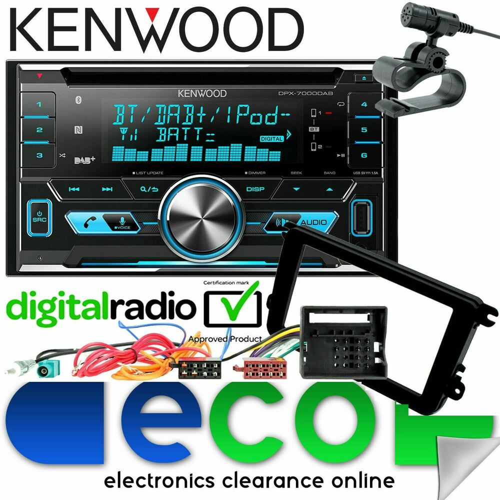 hight resolution of details about vw transporter t5 1 kenwood dab bluetooth cd mp3 usb aux car stereo fascia kit