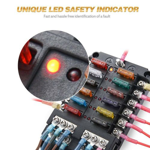 small resolution of details about 12 way blade fuse box block holder led indicator 12v 32v auto marine waterproof