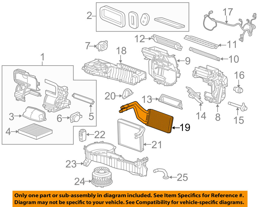 hight resolution of details about gm oem hvac heater core 23135678