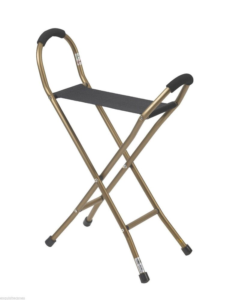 walking cane seat chairs giant cushion chair folding 2 lb quad - supports 250 lbs! | ebay