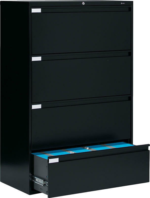 Metal 4 Drawer Lateral File Cabinet Office Furniture  eBay