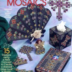 Christmas Chair Covers For Sale Swivel Nebraska Furniture Mart Stained Glass Mosaics ~ 15 Crosses Bible Cover Ornaments Plastic Canvas Patterns | Ebay