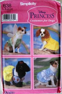 Simplicity 5838 Disney Princess Costume Patterns for Dogs ...