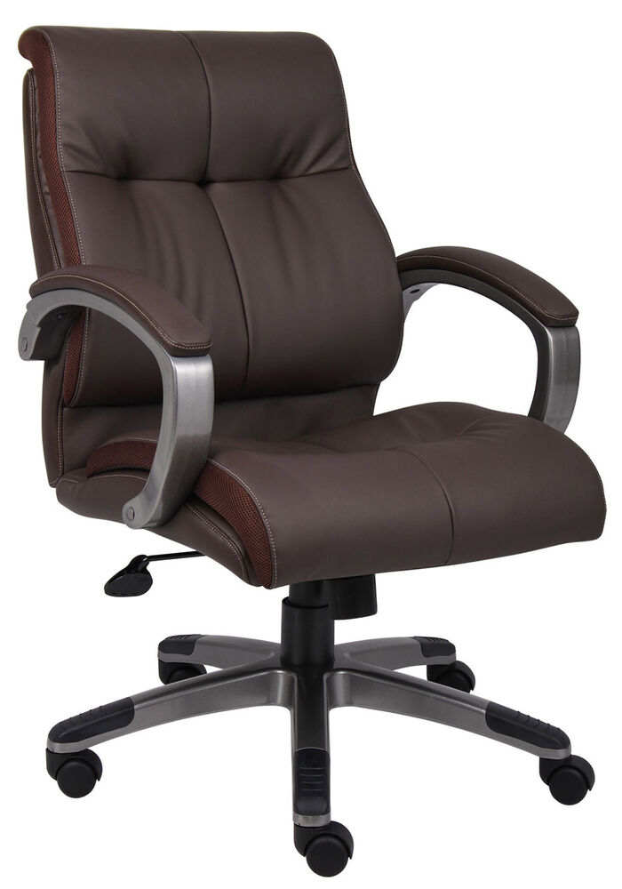 Lot of 16 Brown Leather Mid Back Conference Room Office Chairs  eBay