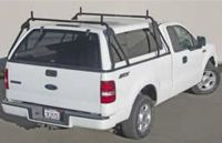 Truck Cap Ladder Rack. No Drilling. Fits Toyota Tundra and