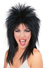 80s punk rocker girl black spiked