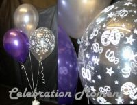 60th BIRTHDAY balloon Party Decoration PURPLE & SILVER 15