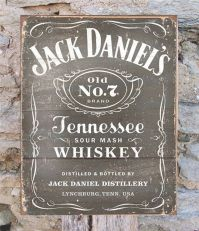 Jack Daniels Whiskey Retro Metal Sign Wall Decor Man Cave