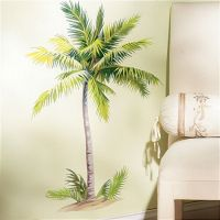 WALLIES PALM TREE wall stickers MURAL 6 decals tropical ...