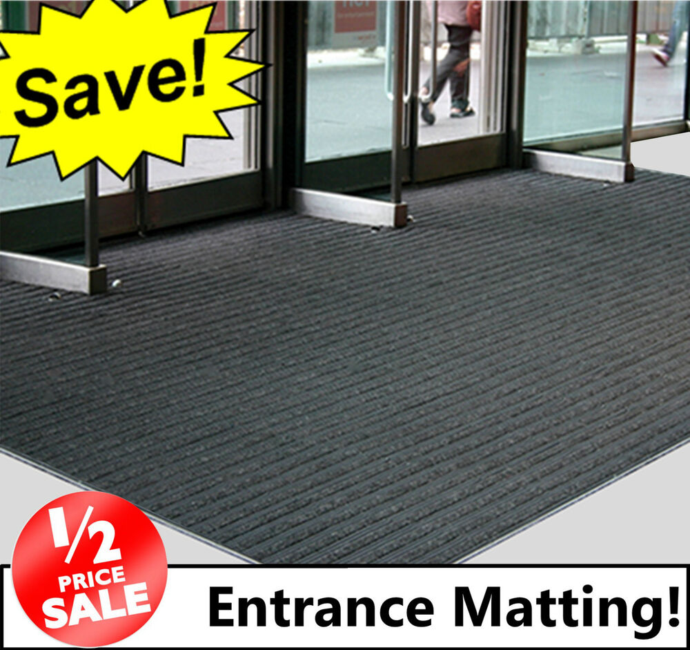 kitchen runner rugs rug sets black coir entrance matting! - ribbed door mat / reception ...