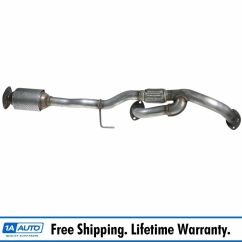 2003 Toyota Camry Exhaust System Diagram Seven Way Trailer Plug Wiring Front Pipe W/ Catalytic Converter For Es300 Avalon V6 Automatic | Ebay