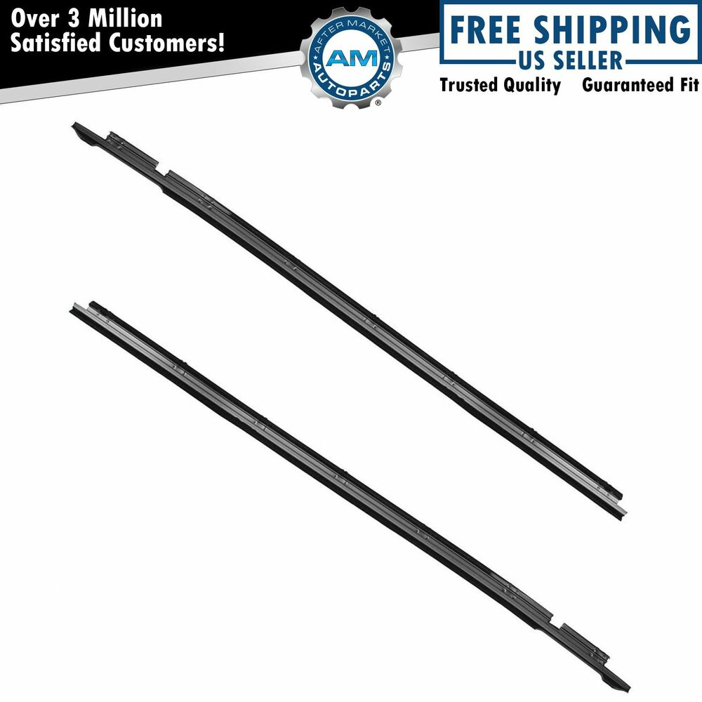 Outer Outside Window Sweep Weatherstrip Felt Seal Set Pair