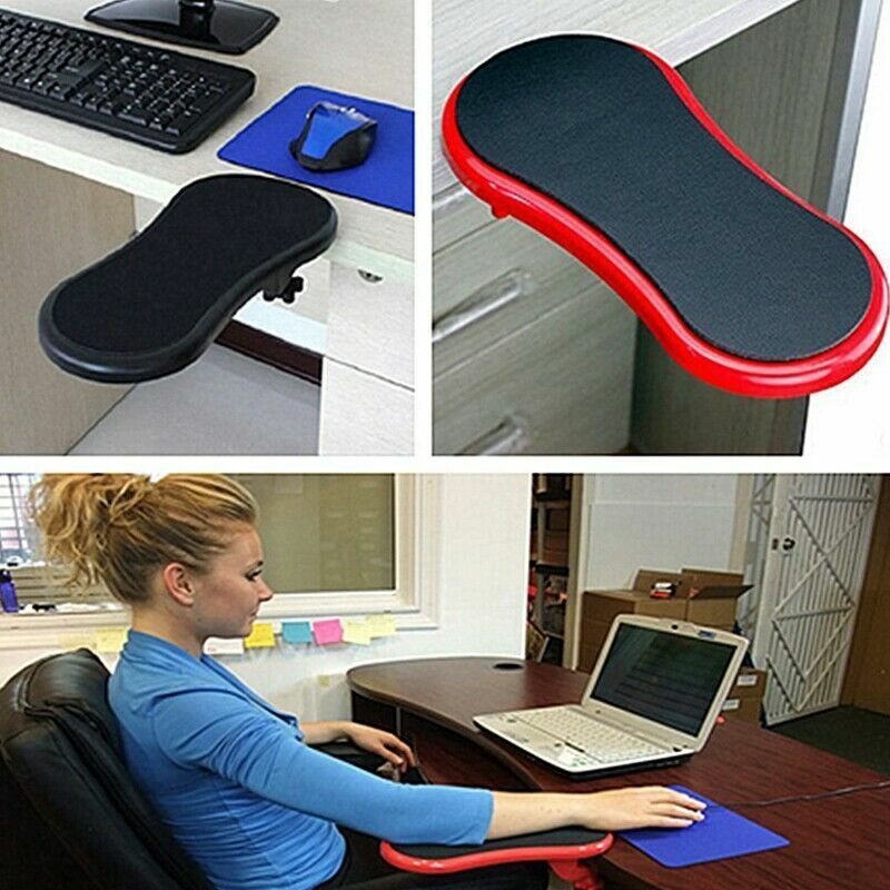 ergonomic desk chair uk indoor hanging chairs australia black healthy computer mini armrest wrist rest pad support | ebay