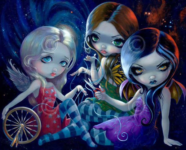 Fairy Art Print - Three Fates Jasmine Becket-griffith 16x20 Gothic Poster
