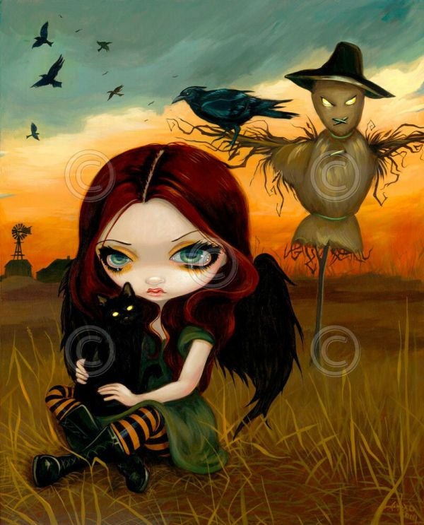 Fairy Art Print - Scarecrow Jasmine Becket-griffith 14x11 Gothic Poster