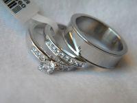 3 Piece His and Hers Wedding Ring Set Couples Wedding ...