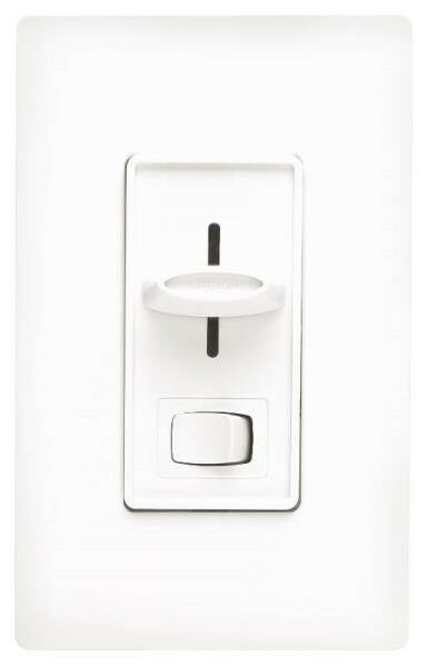 NEW LUTRON SFSQ-LFH-WH WHITE 3 SPEED FAN LIGHT SWITCH